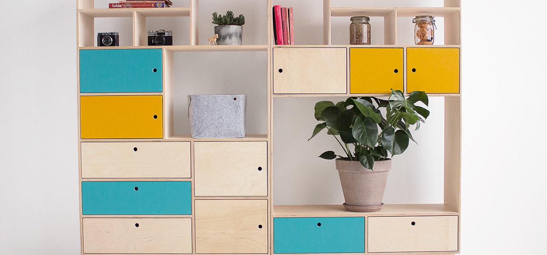 plywood bookcase handmade custom