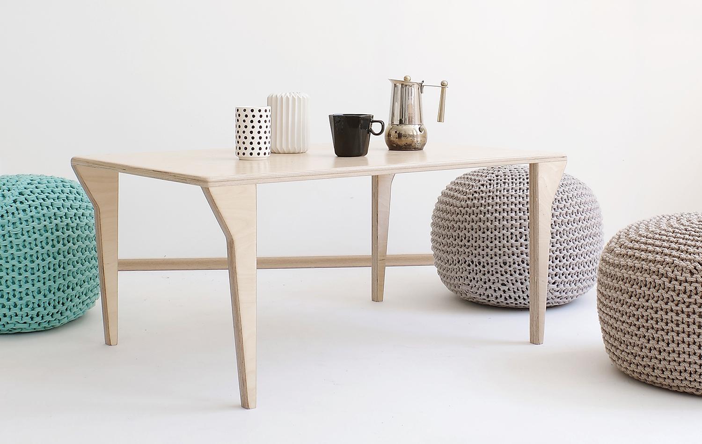 plywood coffee table handmade custom minimalistic design