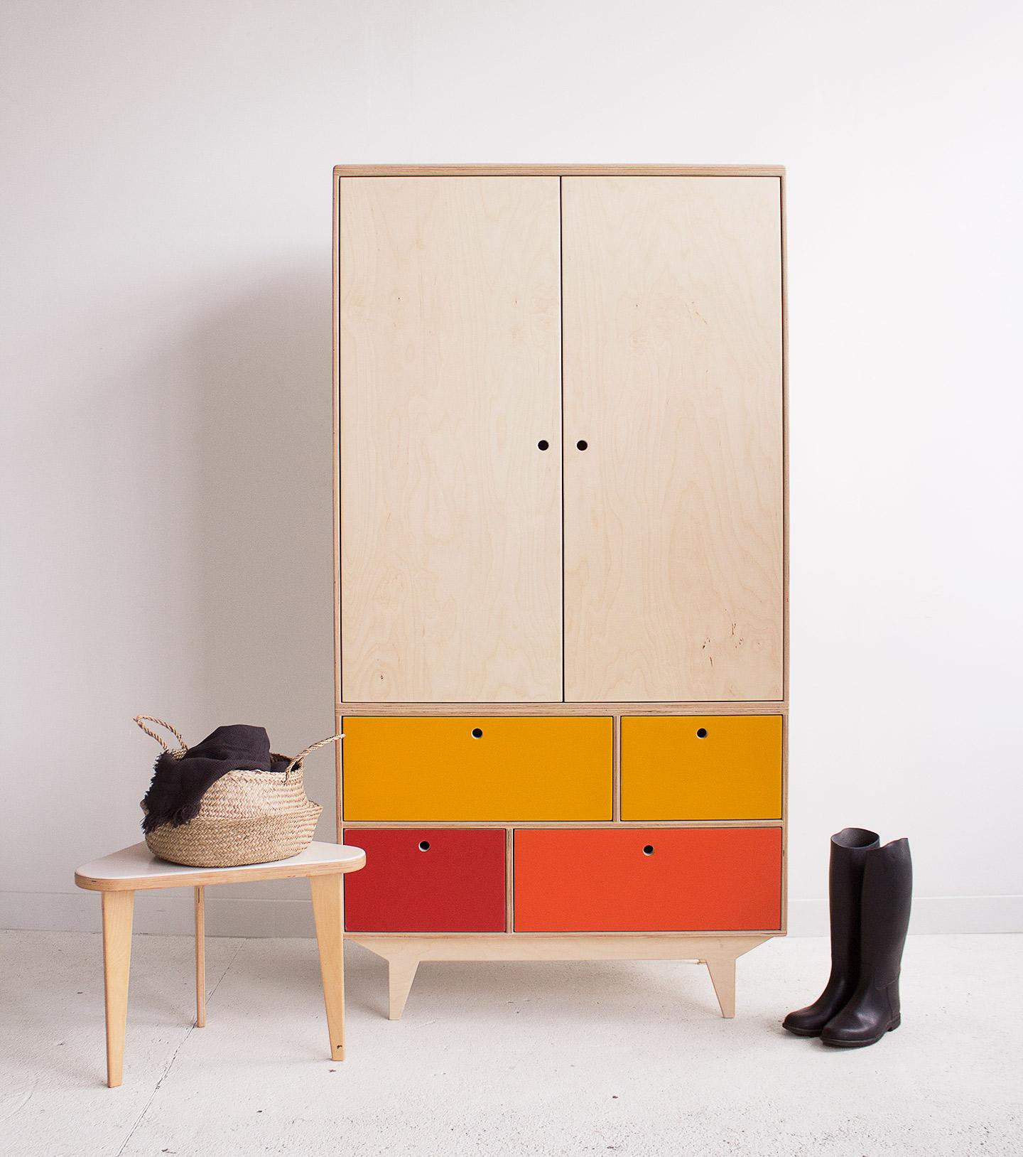 plywood wardrobe handmade custom