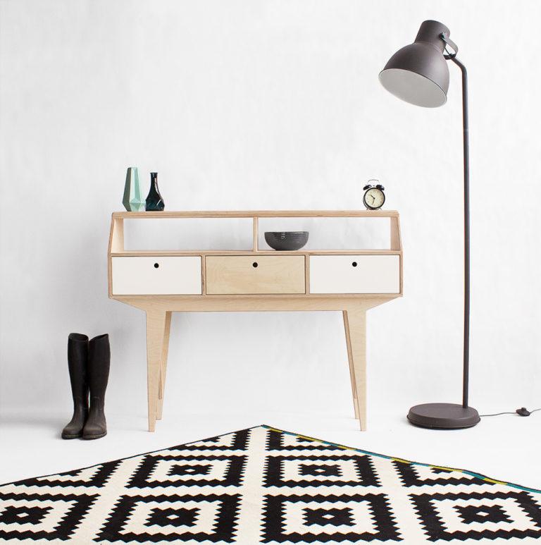 plywood console table handmade custom