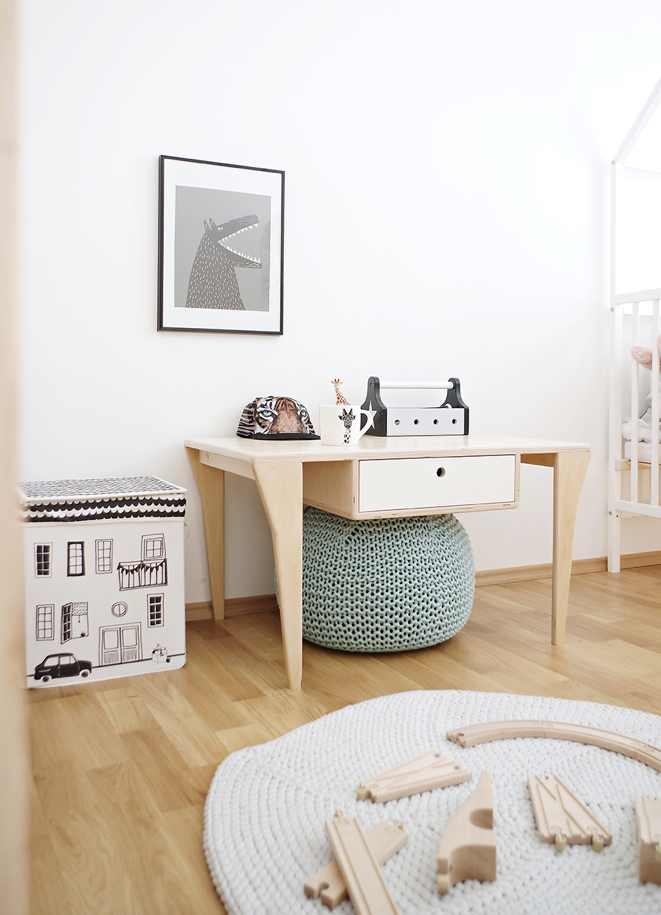 plywood play table drawer handmade custom