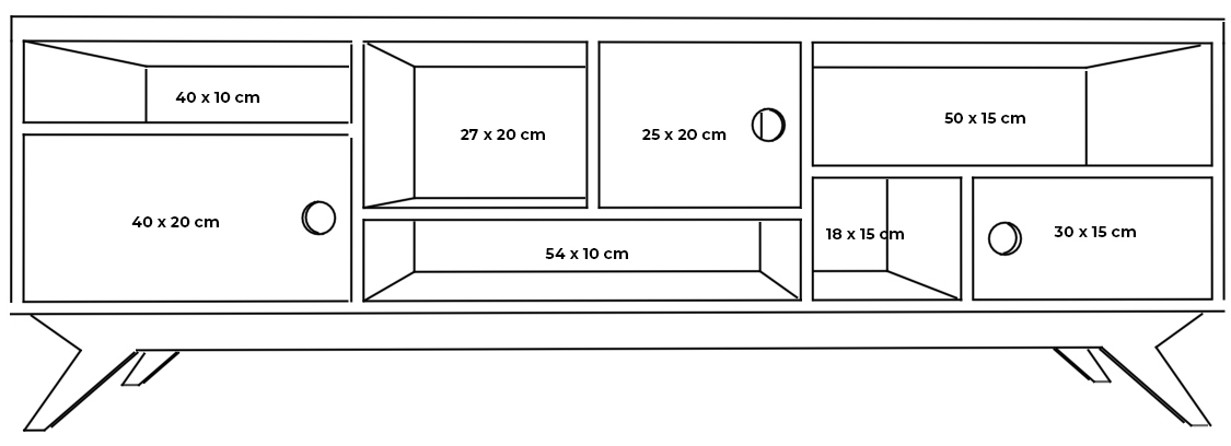 plywood tv unit measurements