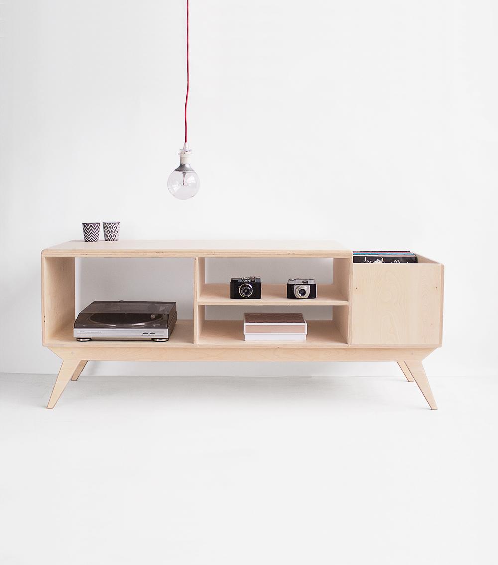plywood tv unit vinyl stand handmade custom