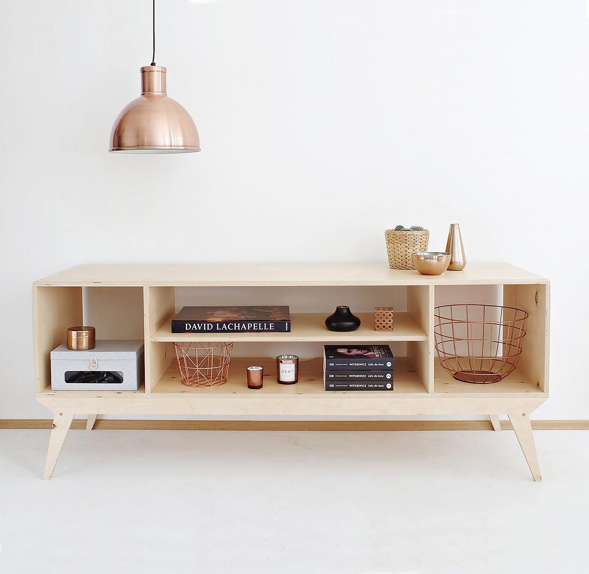 plywood tv unit shelves handmade custom