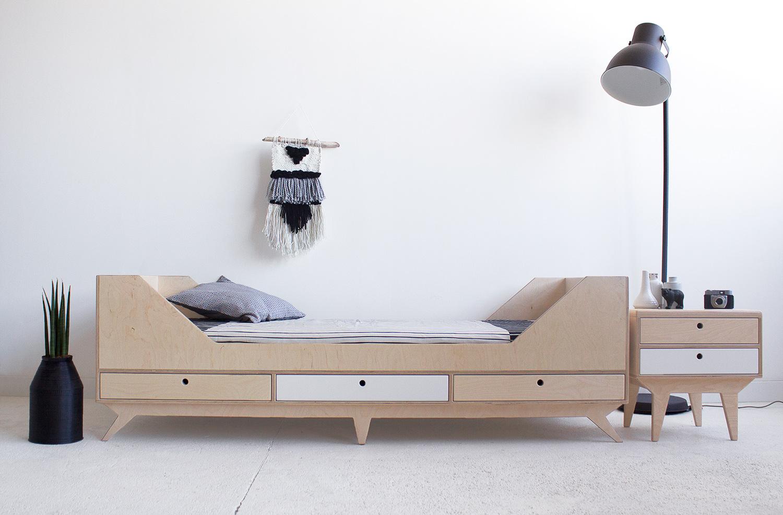 plywood night stand drawers handmade custom