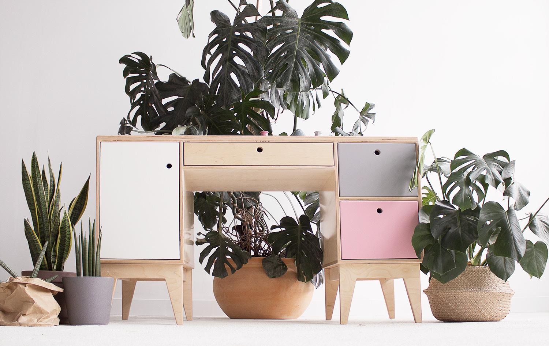 plywood desk children handmade custom