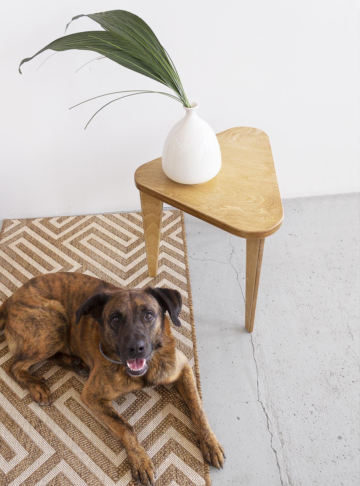 plywood wooden coffee table handmade custom