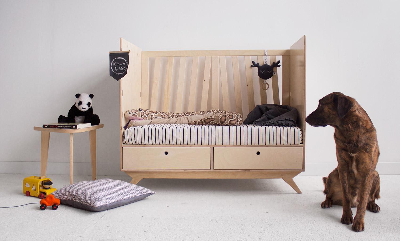 plywood crib baby children handmade custom