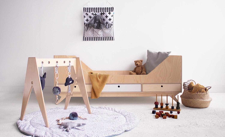 plywood baby gym play space handmade custom