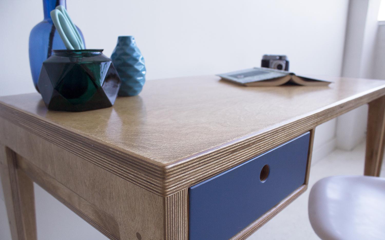 plywood office desk handmade custom