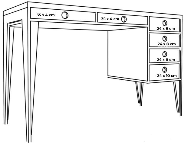plywood office desk measurements