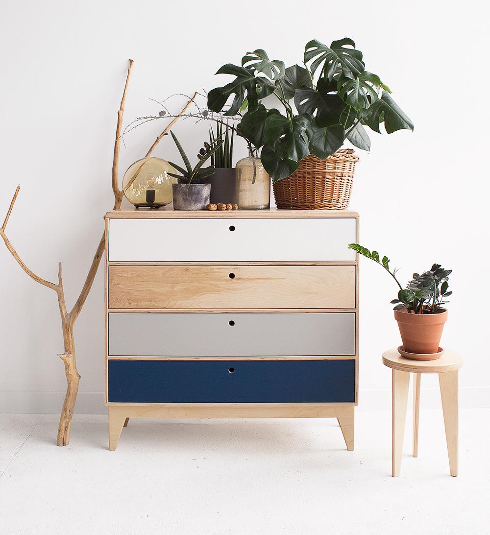 plywood chest of drawers handmade custom minimalistic