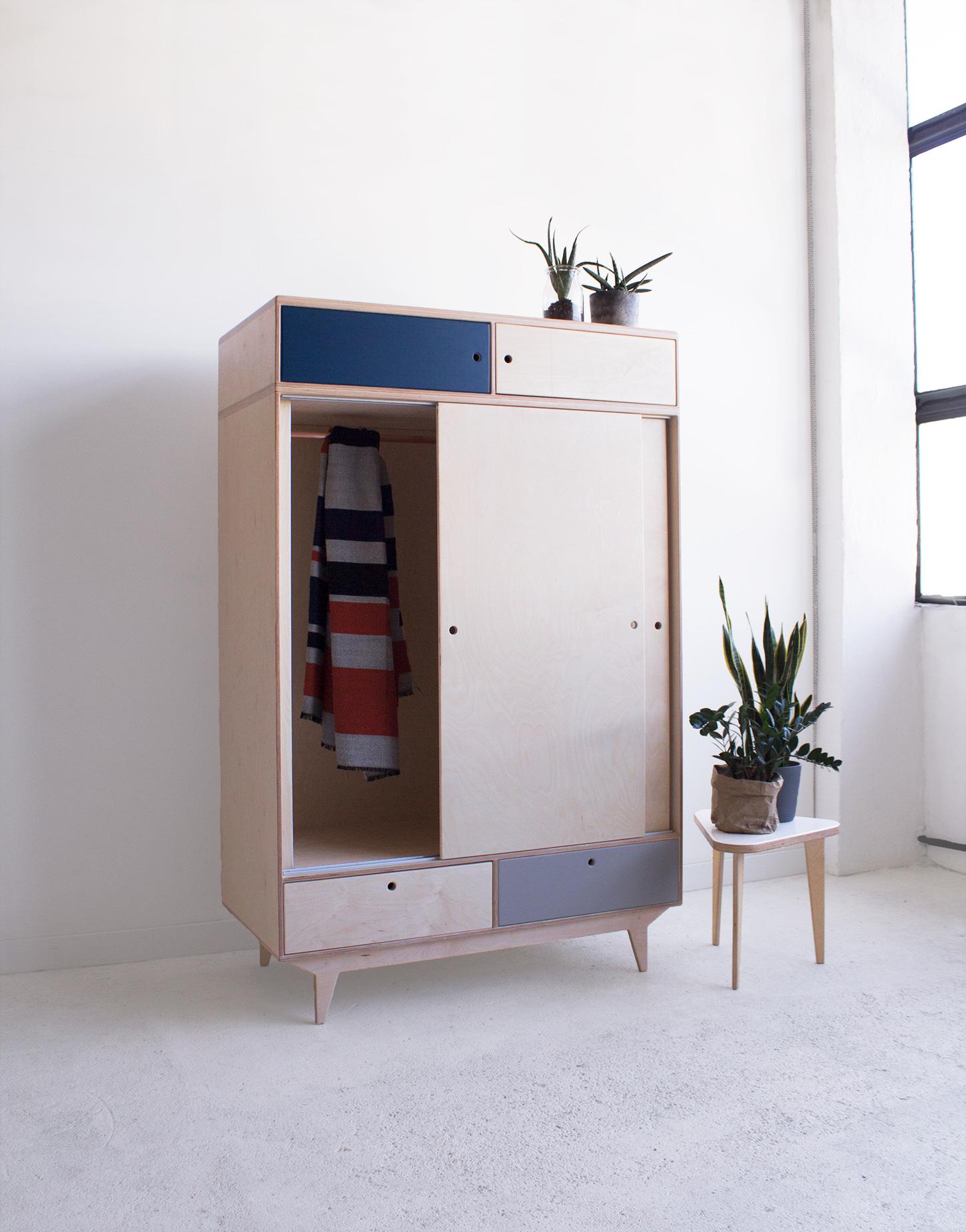 plywood wardrobe handmade custom design
