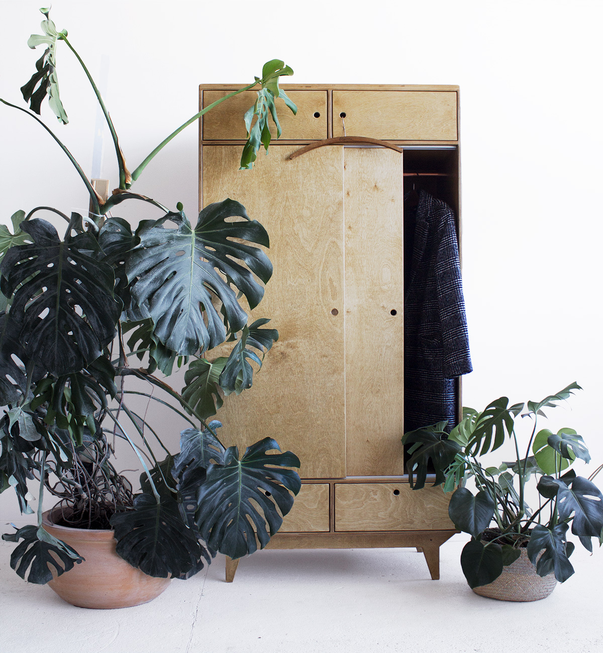 plywood wardrobe handmade custom vintage design
