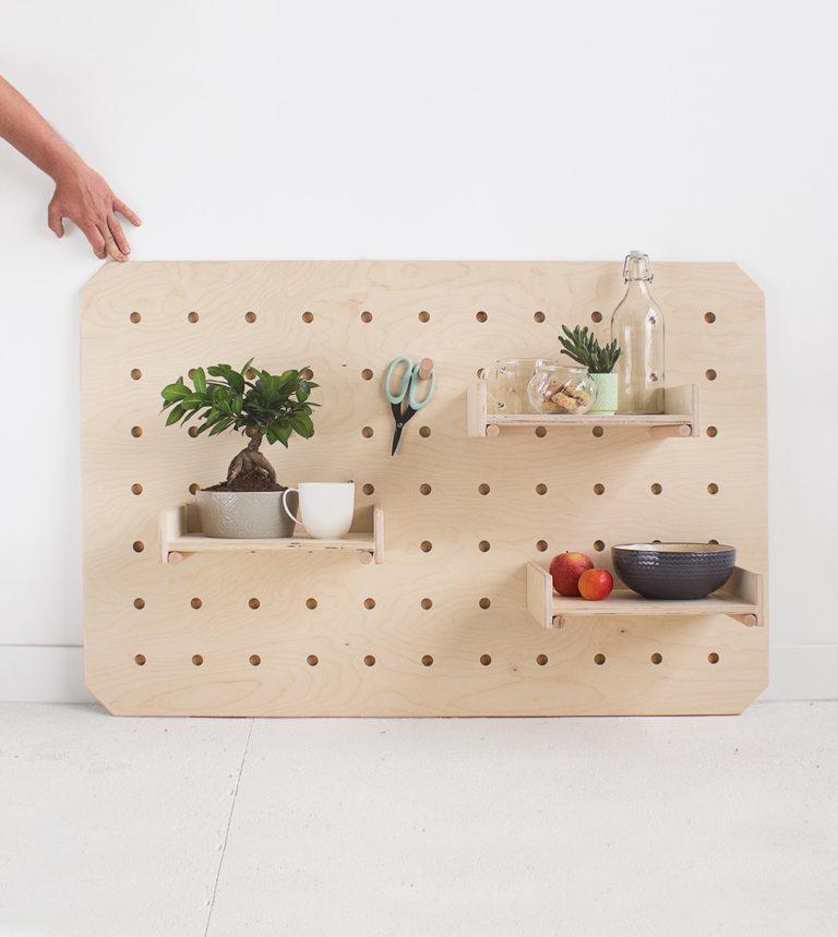 plywood organiser mobile shelves multifunctional handmade