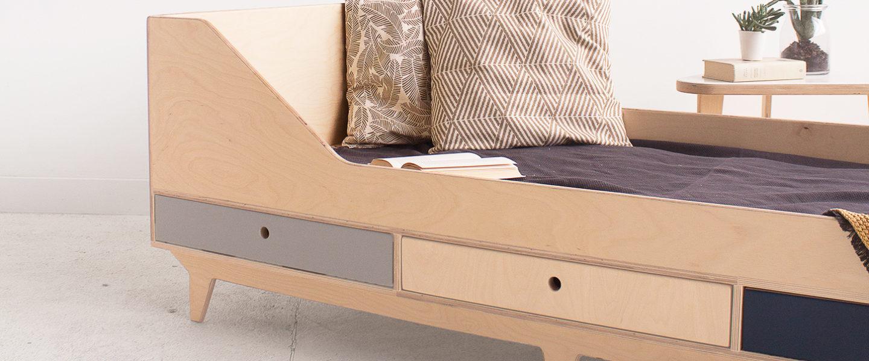 plywood bed custom handmade