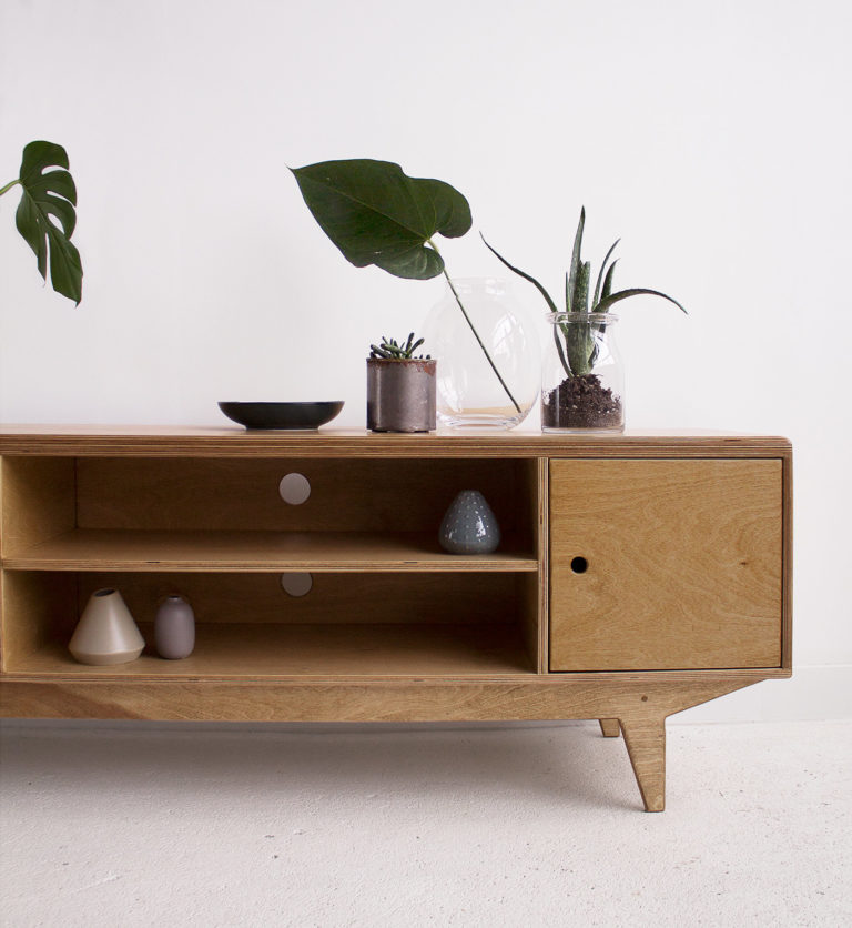 plywood tv cabinet handmade custom design