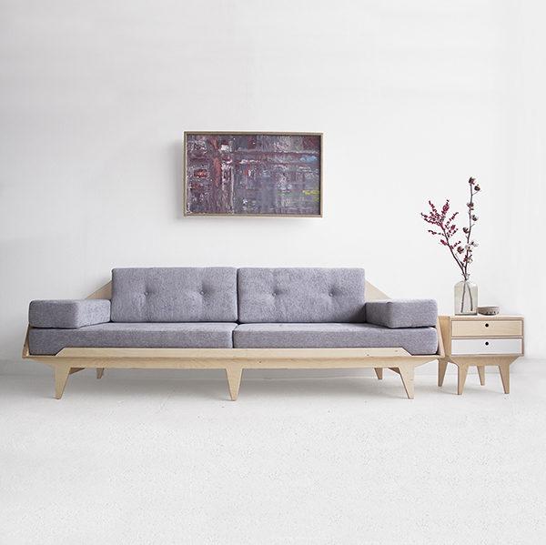 sofa 4-person plywood