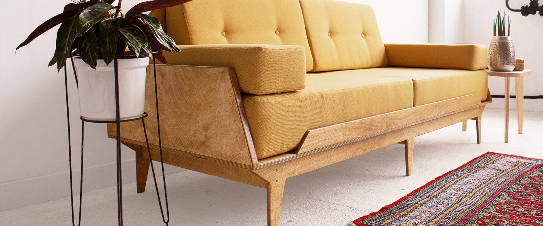 plywood sofa three seater handmade custom