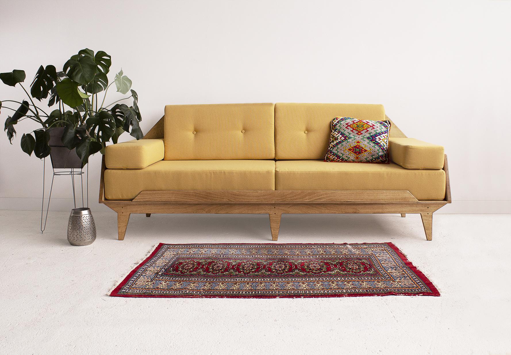 sofa sklejka vintage