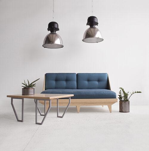 leżanka skandynawska minimalistyczna