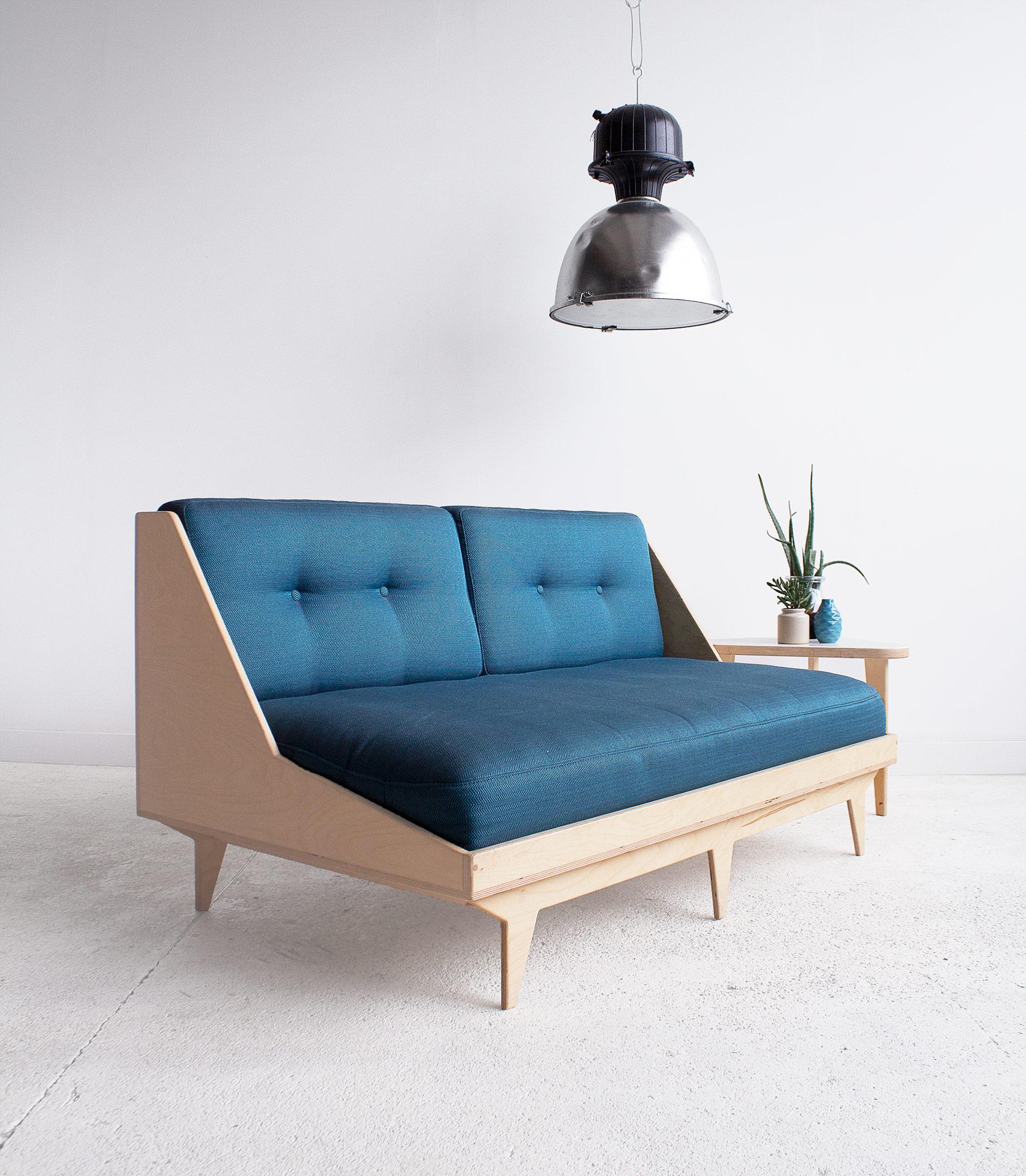 sofa 2osobowa ze sklejki