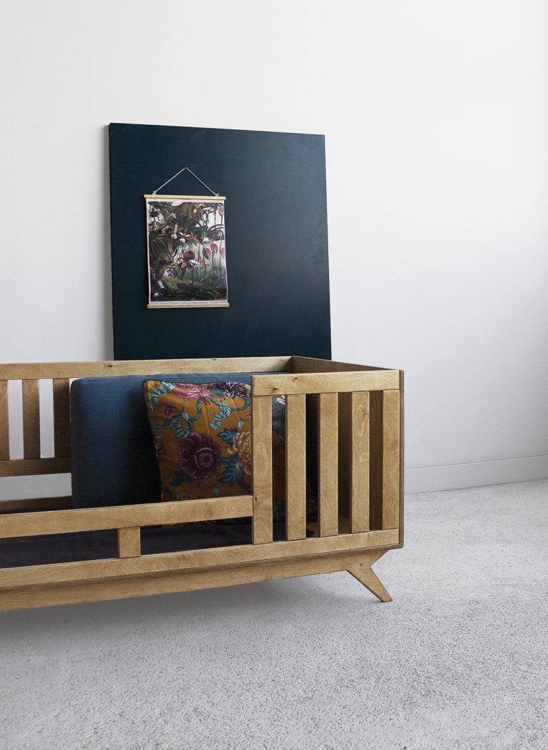 plywood oak crib cot