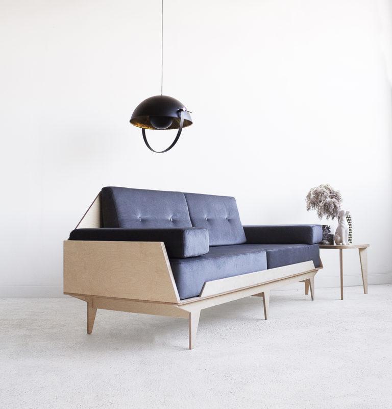 handmade plywood sofa coach