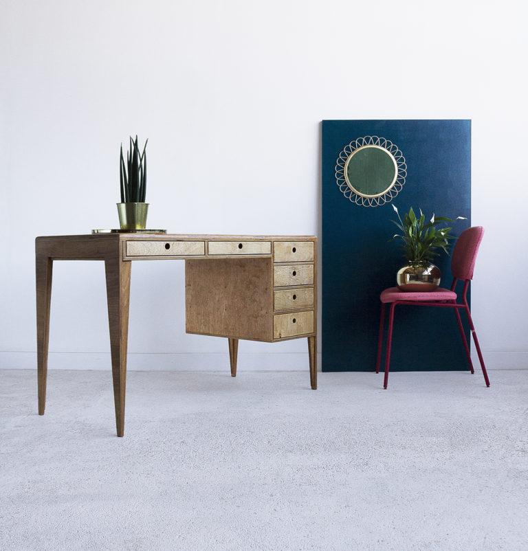 plywood desk handmade