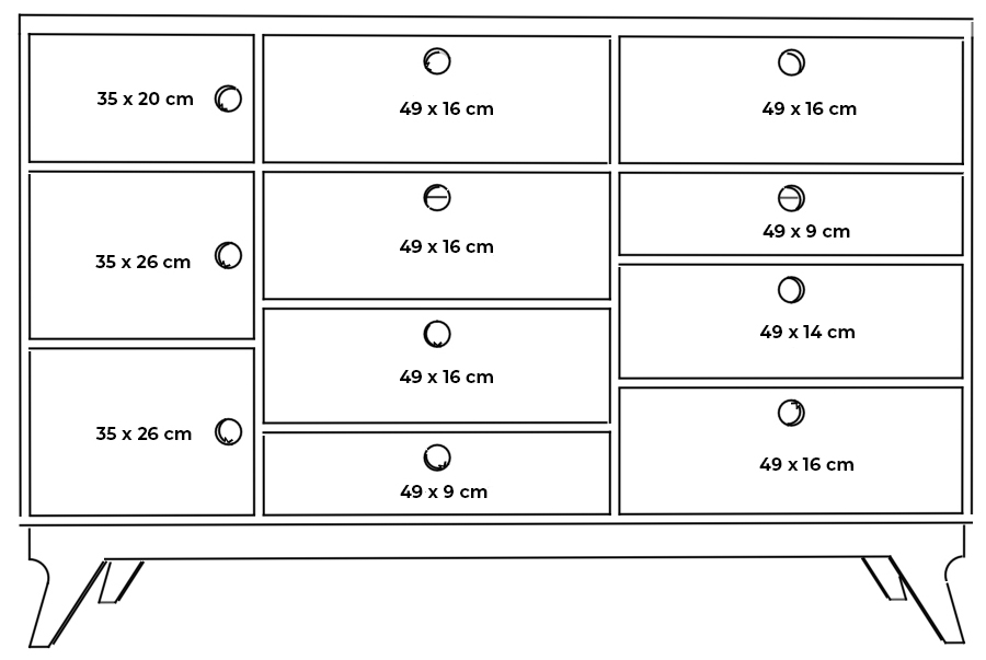 plywood chest of drawers measurements