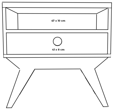 plywood night stand measurements