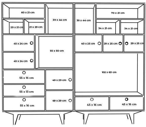 plywood bookcase measurements