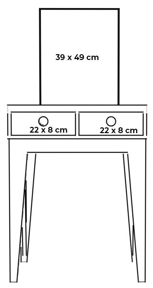 plywood dressing desk mirror measurements