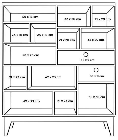 plywood bookcase spacious shelves measurements
