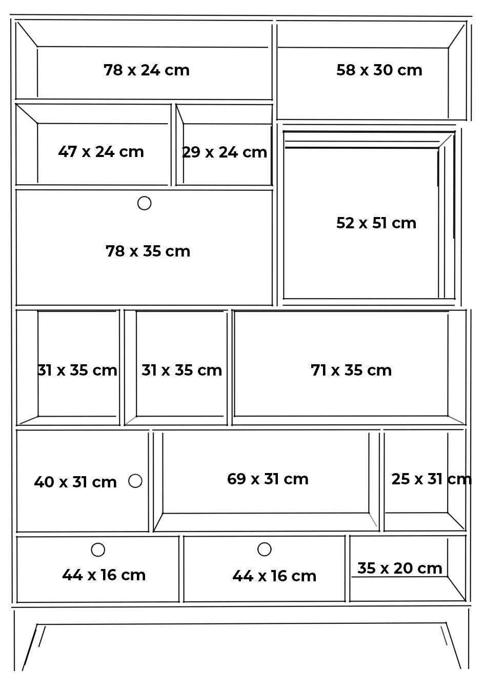 plywood bookcase shelving unit measurements