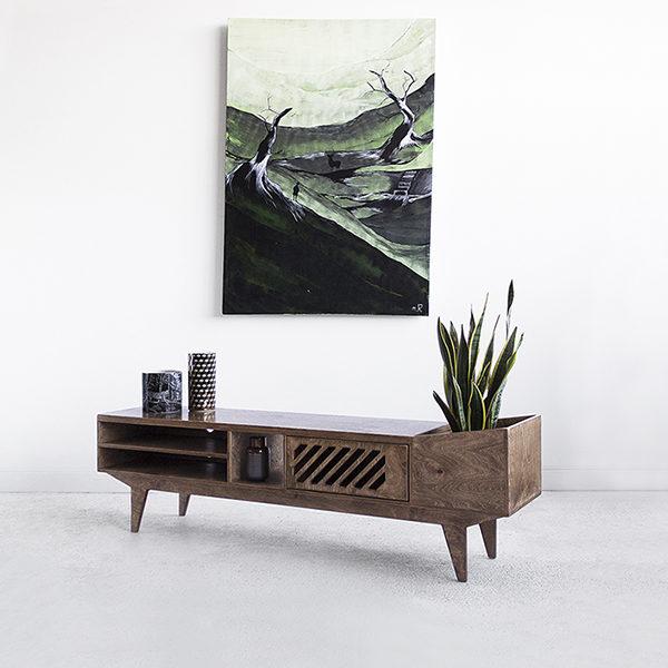 handmade plywood tv bench