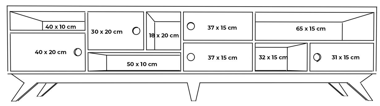 plywood tv unit long measurements