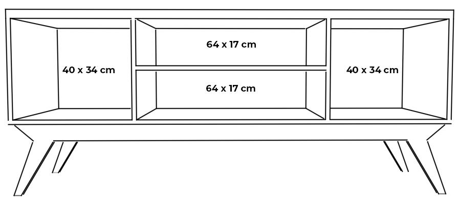plywood tv unit shelves measurements