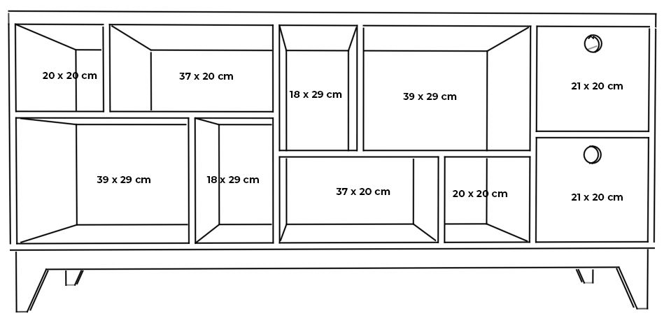 plywood chest od drawers measurements