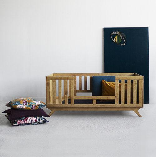 łóżko dziecka szczebelki sklejka