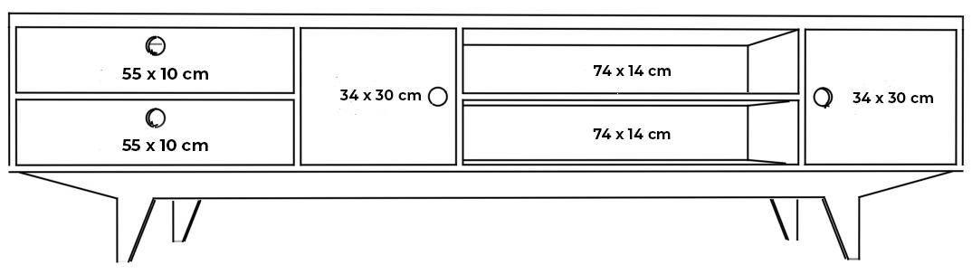 plywood tv cabinet measurements