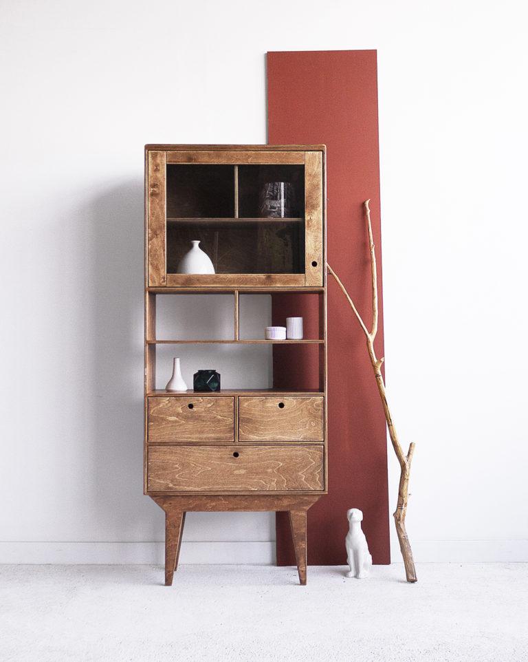 plywood glazed showcase