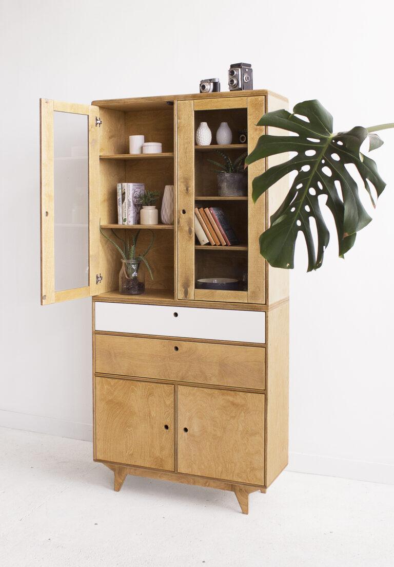 plywood glazed showcase custom handmade
