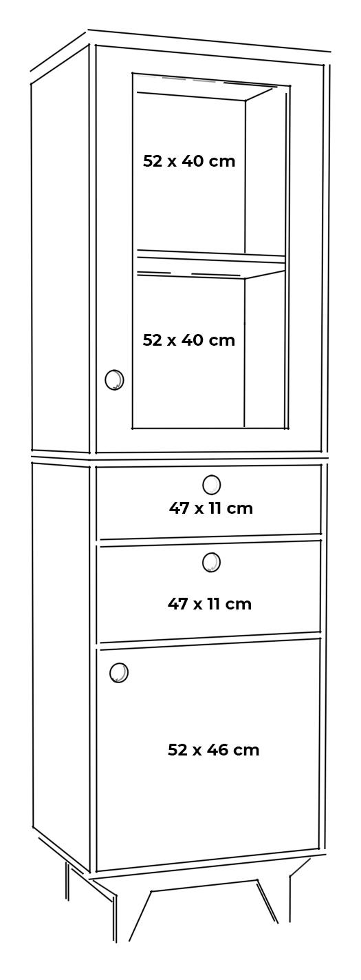 plywood glazed showcase custom measurements