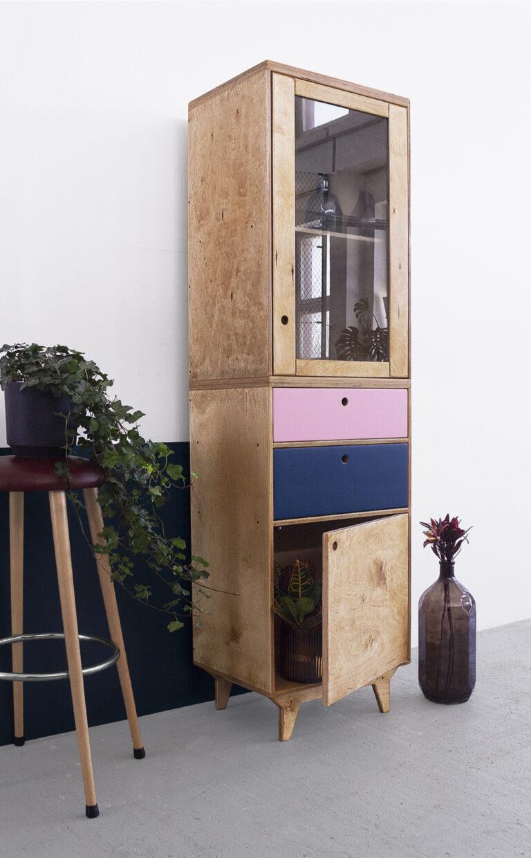 plywood glazed showcase custom handmade design