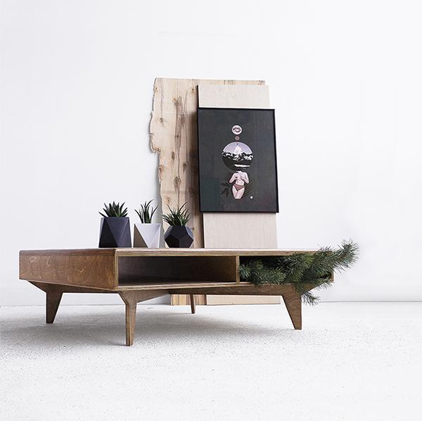 skandynawski stolik kawowy loftowy