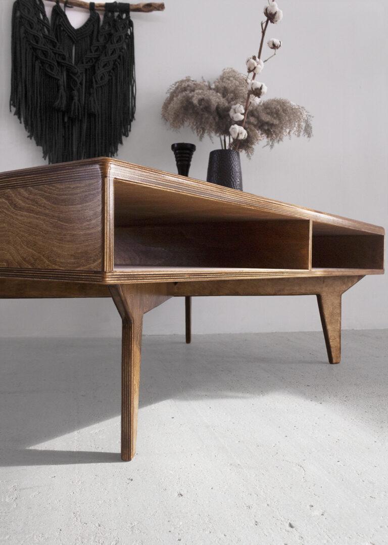 plywood coffee table minimalistic design handmade custom