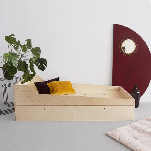 łóżko z dolnym materacem sklejka