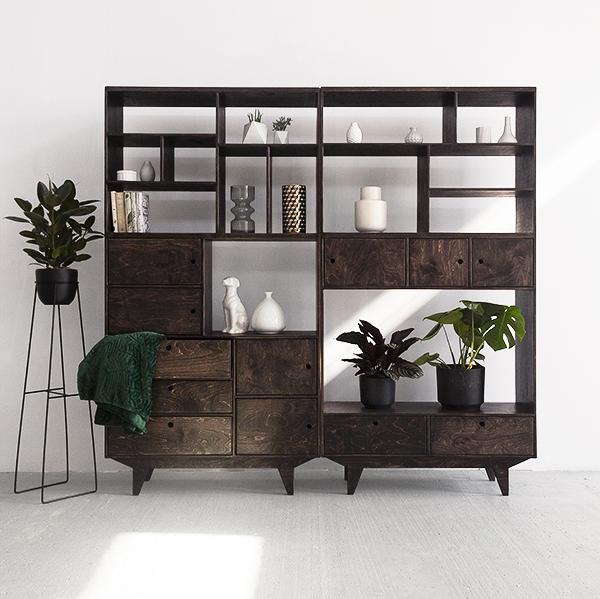 plywood wallbookshelf