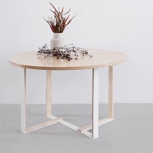 stół okrągły sklejka